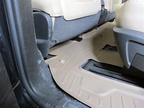 weathertech floor mats buick enclave 2008 buick enclave weathertech 2nd and 3rd row rear auto floor mat tan