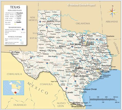 reference maps  texas usa nations  project