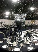 Table Decorations Black And White Theme Centerpieces On Pinterest Masquerade Theme Quinceanera Centerpieces