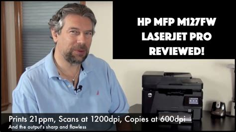 All in one laser printer (multifunction). HP MFP M127fw Printer Review - YouTube