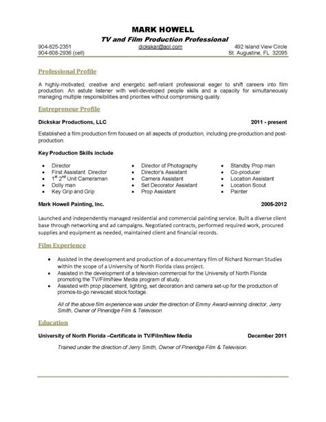 One Page Resume Exles by One Page Resume Template Cyberuse