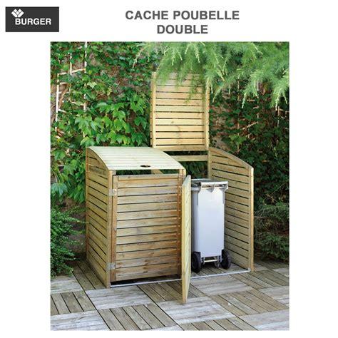 Cache Poubelle Bois Double D'exterieur 0100034 Burger-8