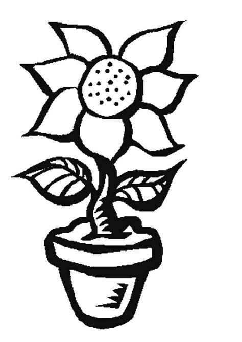 coloriage joli pot de fleur hugolescargot