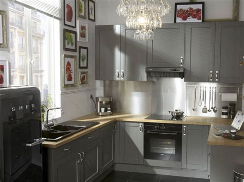 cuisine rustique grise cuisine grise mobilier déco électroménager nos