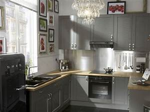 cuisine grise mobilier deco electromenager nos With kitchen cabinet trends 2018 combined with boule papier deco