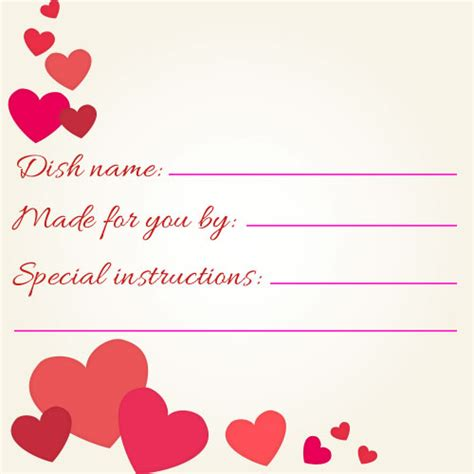 valentines day potluck printables  meal cards signupcom