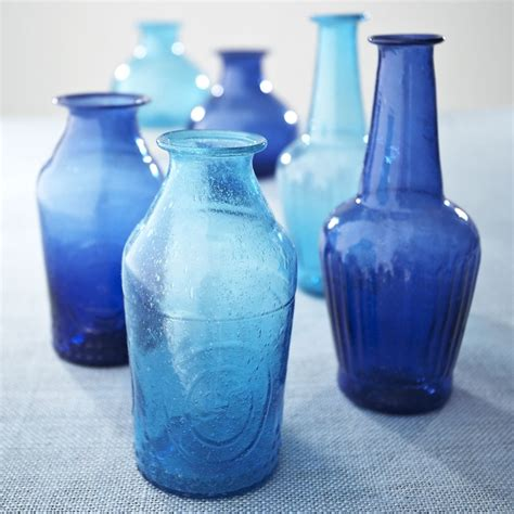 Cobalt Blue Vases In Bulk by W8082 Recycled Glass Vases Cobalt Meg Doughty Possible