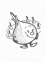 Onion Coloring Pages Vegetables Print Apple Recommended Potato Template Garlic Cucumber sketch template