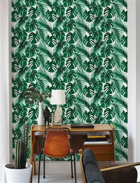 papier peint bureau le papier peint tropical pour décorer votre intérieur