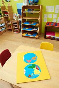 Montessori Kindergarten Preschool Classroom — Stock Photo ...