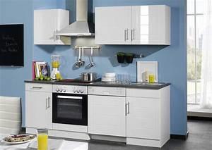 Küche 220 Cm : k chenzeile 220 cm mit elektroger ten in hochglanz wei ~ Eleganceandgraceweddings.com Haus und Dekorationen