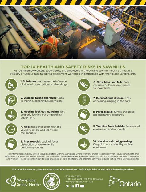 Top 10 health and safety risks in Ontario sawmills ...