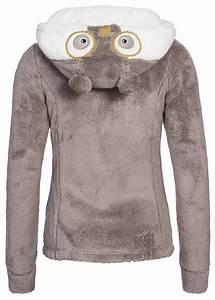 Eight2Nine Damen Teddy Fleece Jacke integrierte Handschuhe 2