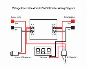 Step Up Step Down Dc Buck Converter With Voltmeter