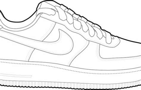 Coloring Nike Air 1 by Nike Air 1 Coloring Page Sketch Coloring Page