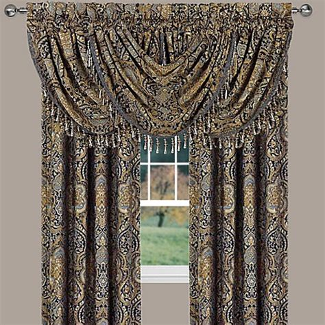 queen  york venezia window curtain panel  valance bed bath
