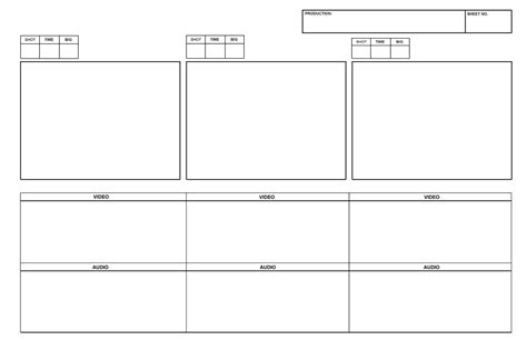 Design Storyboard Template by Pre Production Studies Storyboard Templates