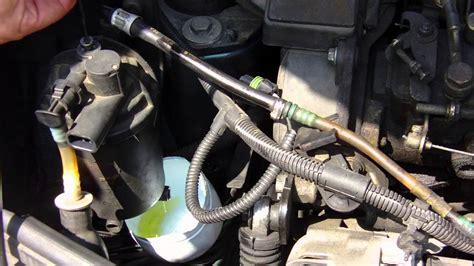 fuel filter change step  step youtube