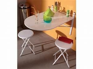 Table Murale Cuisine : tables de cuisine rondes murales ou extensibles ~ Teatrodelosmanantiales.com Idées de Décoration