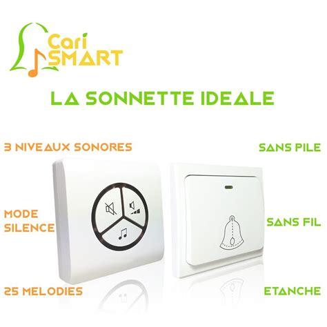 Sonnette Sans Fil Sans Pile La Sonnette Sans Fil Carismart Plus Besoin De Piles Test Avis Ici
