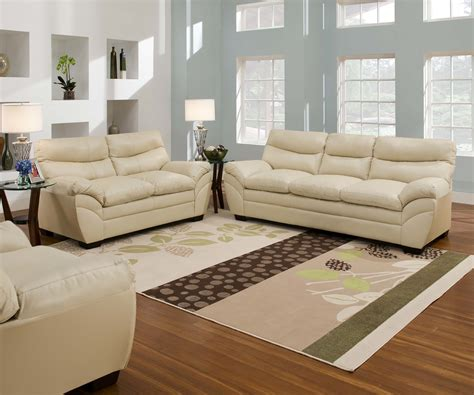 Sofa Sets Furniture by Casual Contemporary Bonded Leather Sofa Set Living