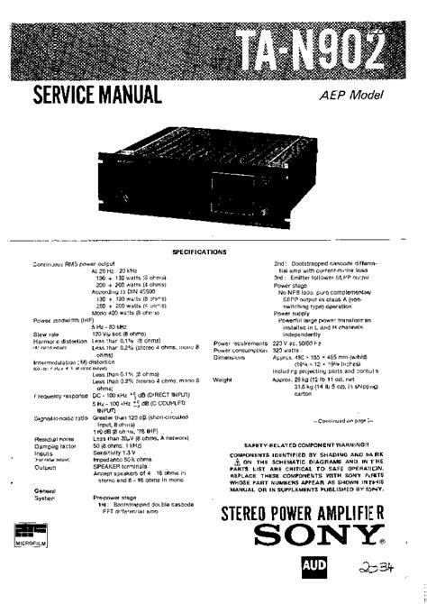 Sony Transistor Portable Radio Sch Service Manual