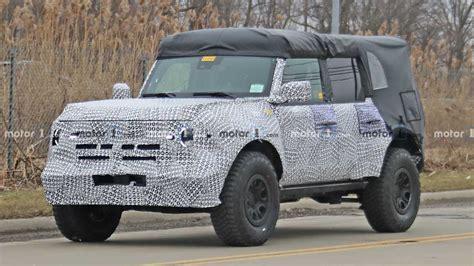 ford bronco spy shots show beefier tires fenders
