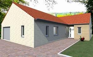 Maison Plain Pied En L : couleur maison construction maison contemporaine de plain ~ Melissatoandfro.com Idées de Décoration