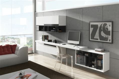 bureau salon aménagement de bureau moderne dans un salon design