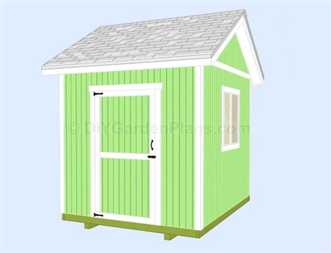 8x10 Gable Shed Plans Free Haddi