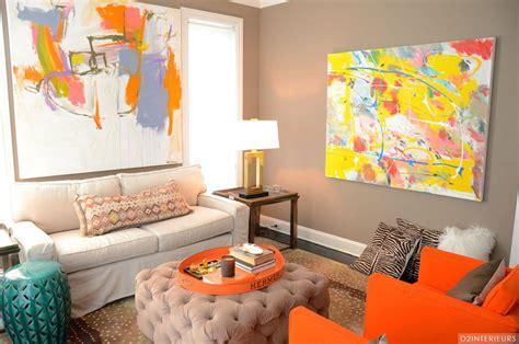 Living Room Classy Orange Living Room Ideas Wih White