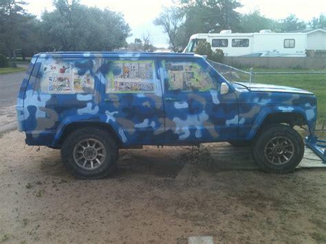 camo jeep cherokee 1985 xj blue camo jeep cherokee forum