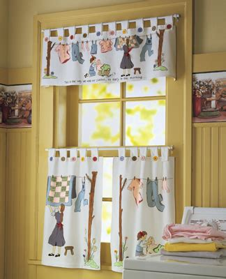 Nostalgic Laundry Room Cafe Curtain Set From Collections Etc