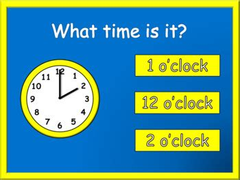 telling time powerpoint game   math teachers pay