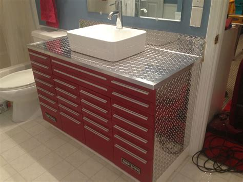 Shop For Vanity by Craftsman Tool Box Vanity With Vessel Sink Unique