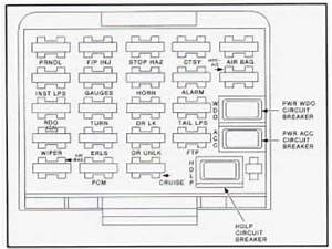 1990 Buick Skylark Fuse Box Diagram