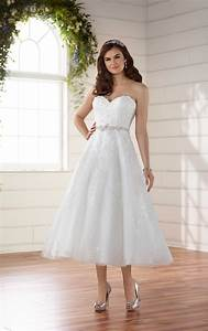 tea length wedding dress with subtle shimmer essense of With shimmer wedding dress