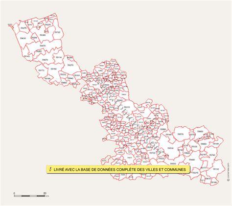 carte des codes postaux du nord