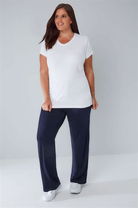 Pantalons De Yoga Marine Taille 44 à 64