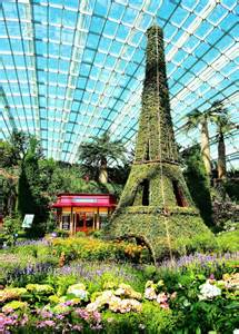 faire floral display flower dome gardens by the