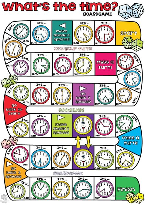 Telling The Time Board Games Printables  Printable 360 Degree