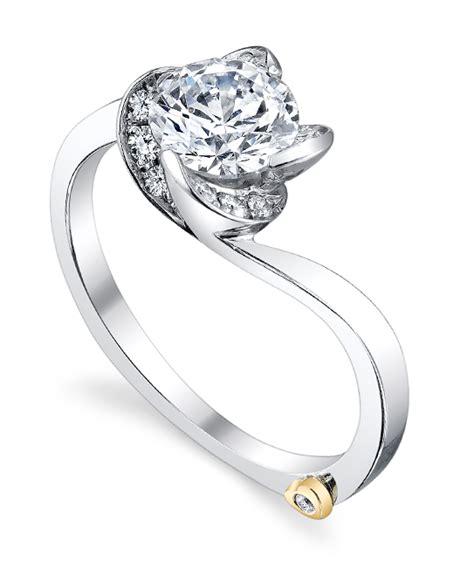 rose floral engagement ring mark schneider design
