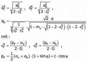 Auflagerkräfte Berechnen Formel : formel zur berechnung der ausdehnung der plastischne zone f r einen kompressiblen boden ~ Themetempest.com Abrechnung