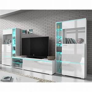 Meuble Tv Design Blanc Laqué : ensemble meuble tv blanc laqu design dolores sans led achat vente meuble tv ensemble meuble ~ Teatrodelosmanantiales.com Idées de Décoration