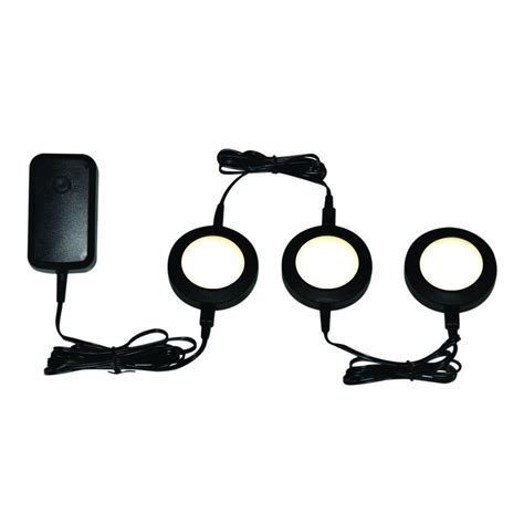 led lights in the kitchen electric black led dimmable puck light kit 8960