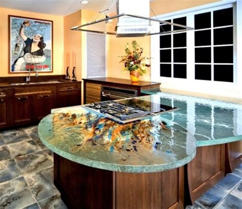 Cool Kitchen Designs With Glass Tops  Interior Design