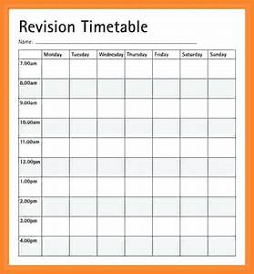 colorful weekly study timetable template photos With blank revision timetable template