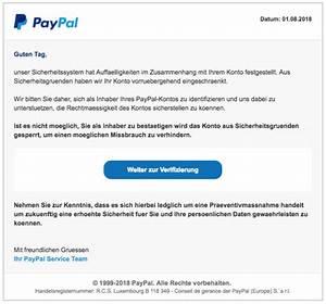Paypal Falsche Email : paypal phishing aktuell diese e mails sind betrug spam bersicht ~ Buech-reservation.com Haus und Dekorationen