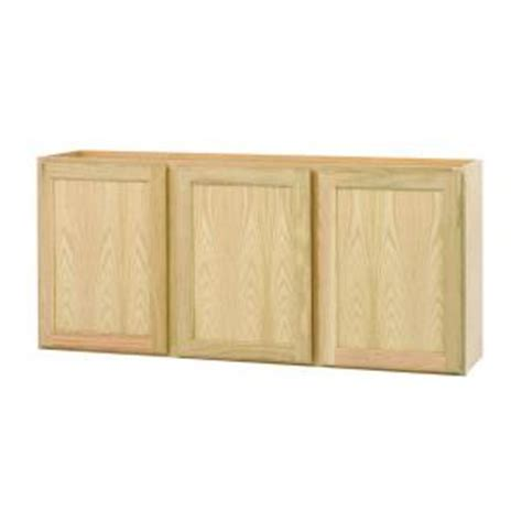 Unfinished Kitchen Cabinet Doors Home Depot by 54x24x12 In Wall Cabinet In Unfinished Oak W5424ohd The