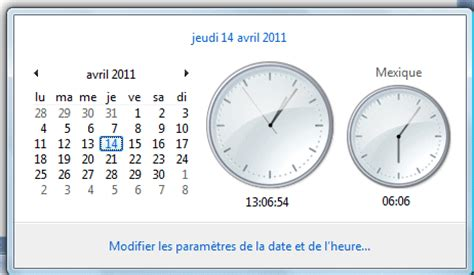 horloge pour bureau windows 7 comment afficher horloge sur bureau vista